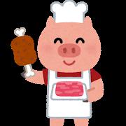 豚の肉屋のイラスト