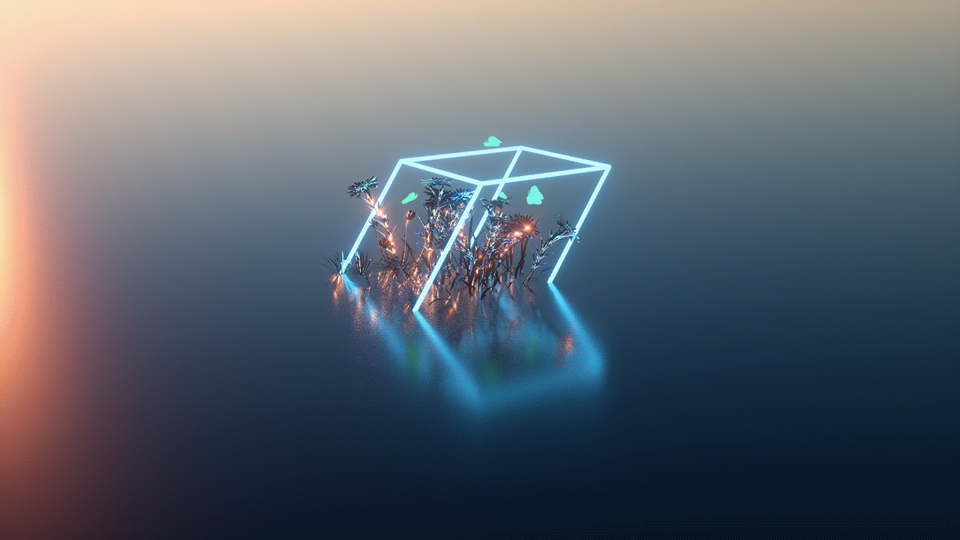 art direction  artwork fresh motion graphics  music Nature Octane Render sameucliff surreal Digital Art