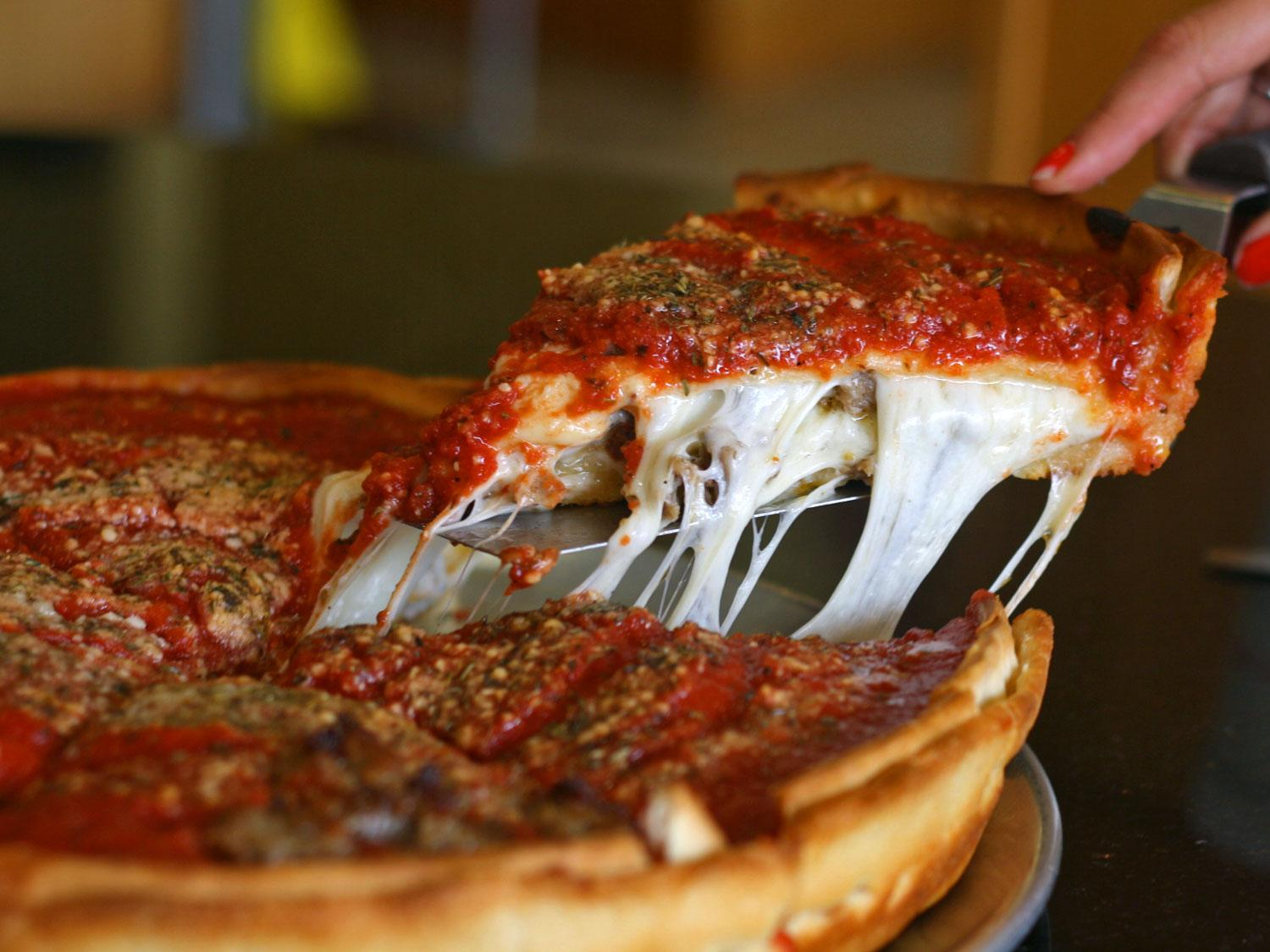 Image result for deep dish pizza in chicago