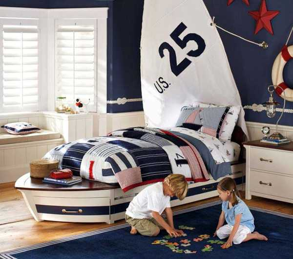 Create A Ship Bed for Boy Sleeping Space