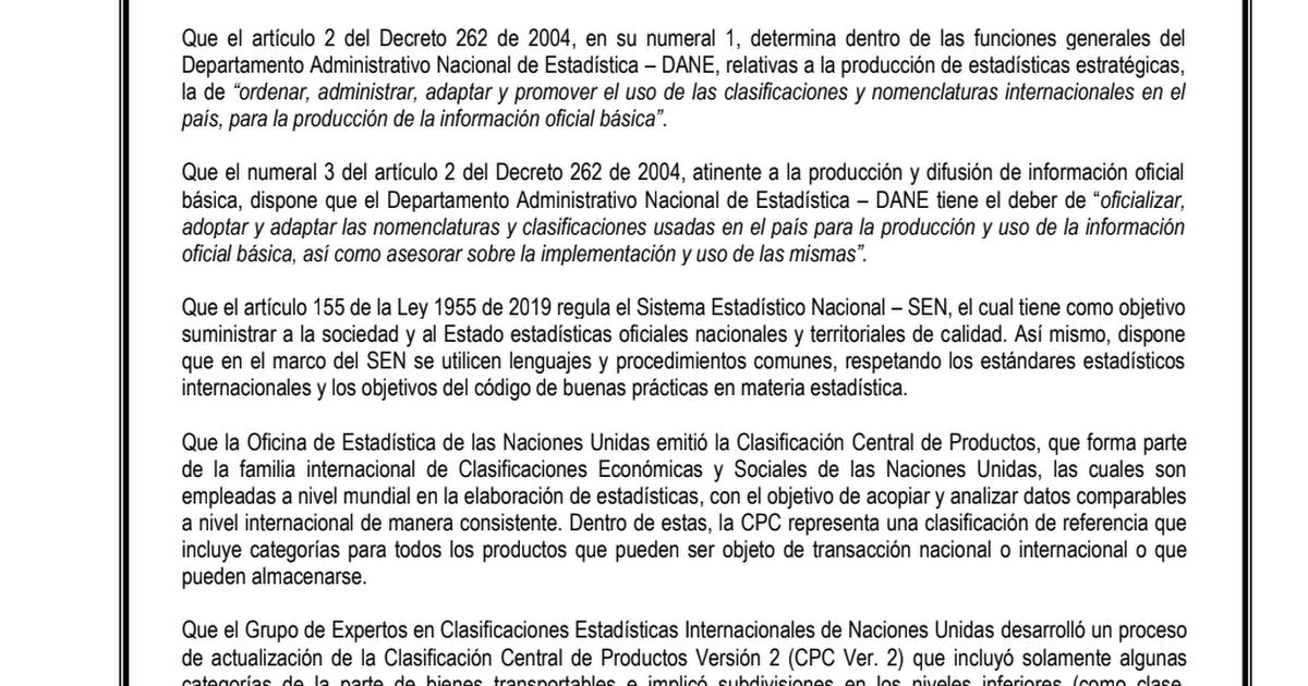 DANE ESTABLECERÁ CLASIFICACIÓN CENTRAL DE PRODUCTOS.pdf