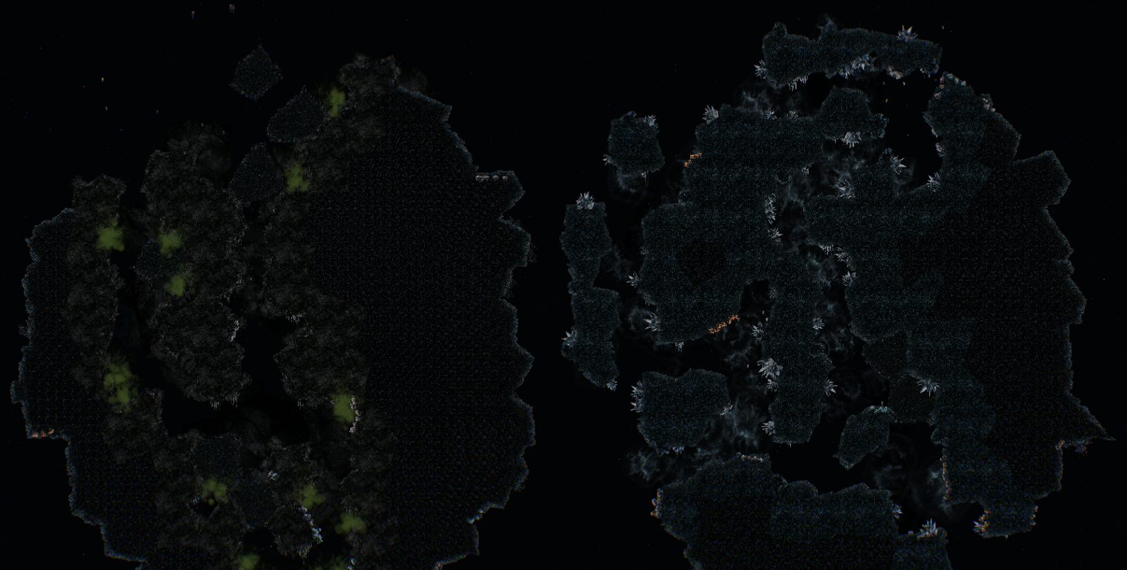 Barotrauma abyss islands with mineral caves