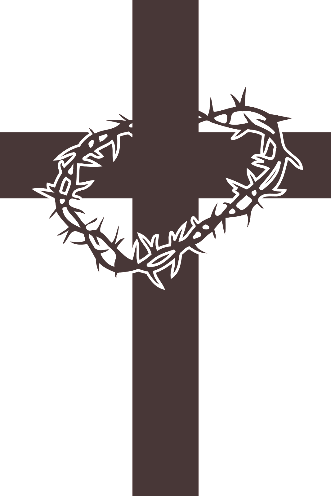 Clipart of Cross and Thorns.