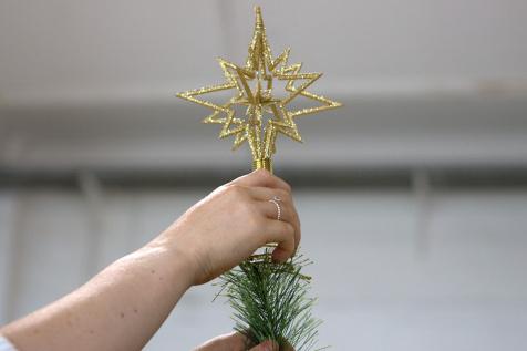 ako ozdobit vianocny stromcek, hviezda