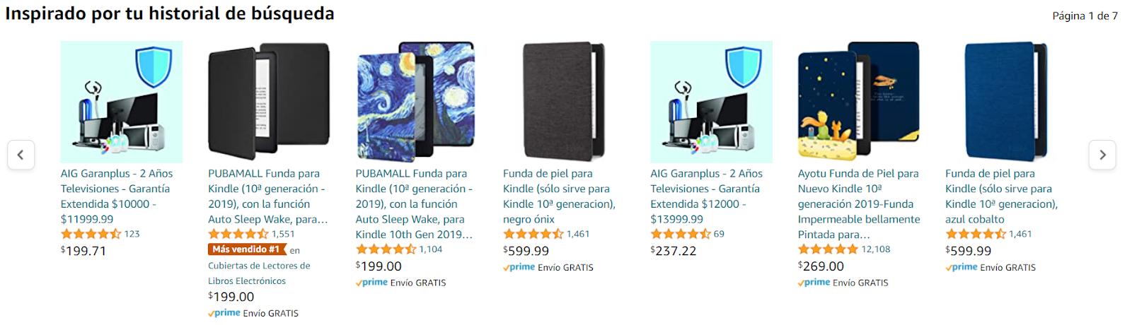 personalizacion ecommerce amazon 6