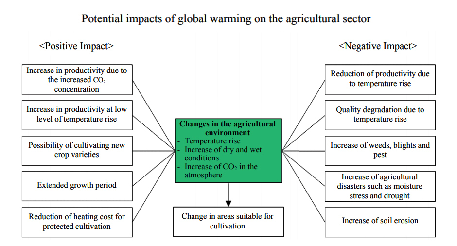 Potential impacts of global warming on the agricultural sector- Climate smart Agriculture- Farmsio