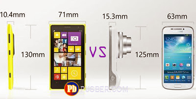 Nokia Lumia 1020 dan Samsung Galaxy S4 Zoom