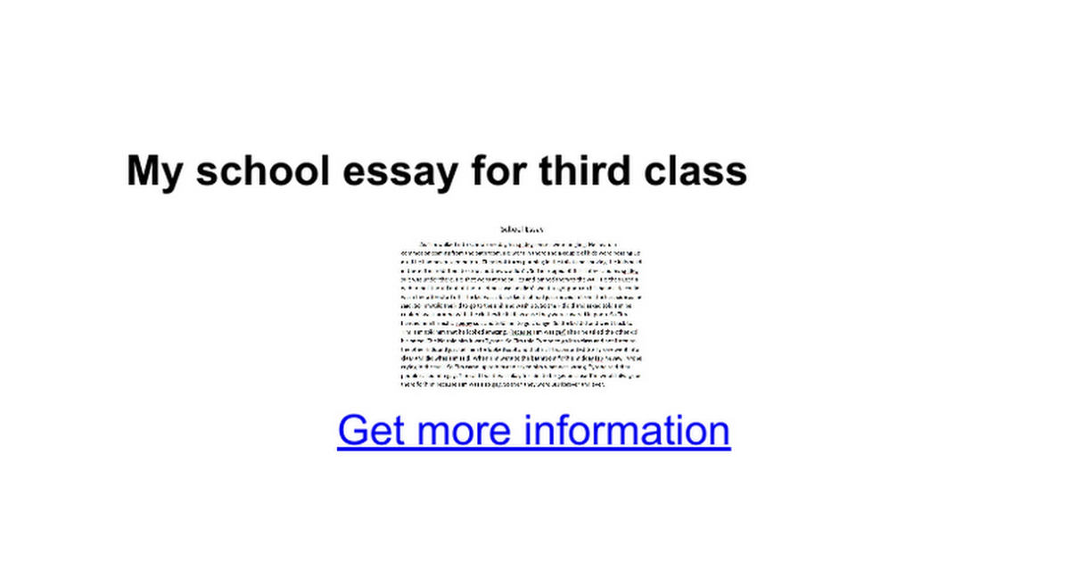 my school essay for third class google docs
