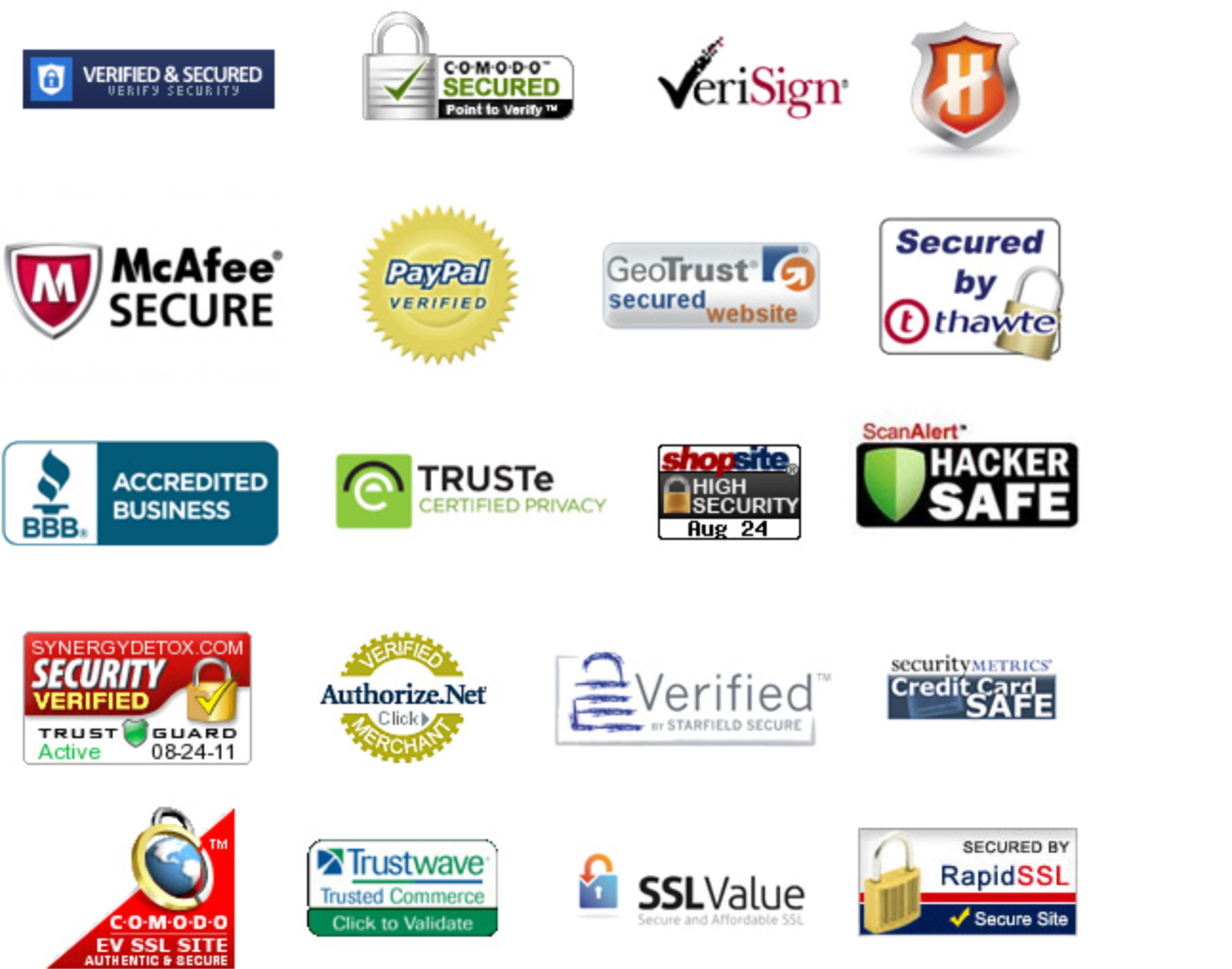 Trust badges that can be used in an ecommerce store