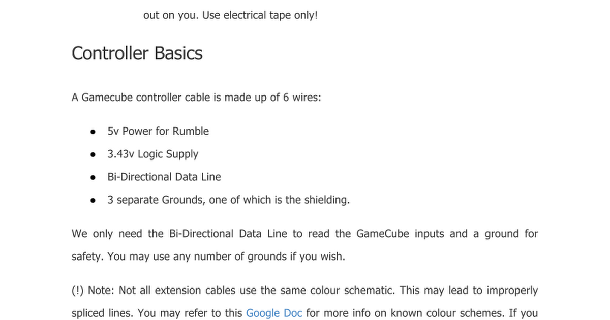 diy tutorial for gamecube viewer hardware google docs
