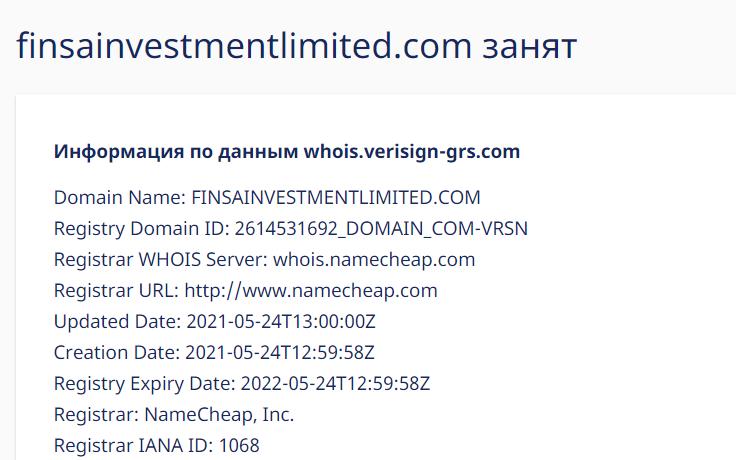 Отзывы о Finsa Investment Limited: можно ли сотрудничать с брокером?
