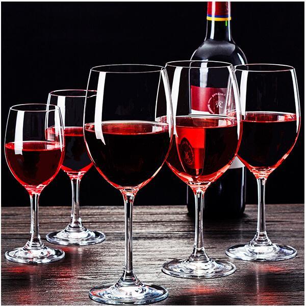 Bộ ly rượu vang pha lê - Đồ trang trí nhà, đồ trang trí tủ rượu đẹp
