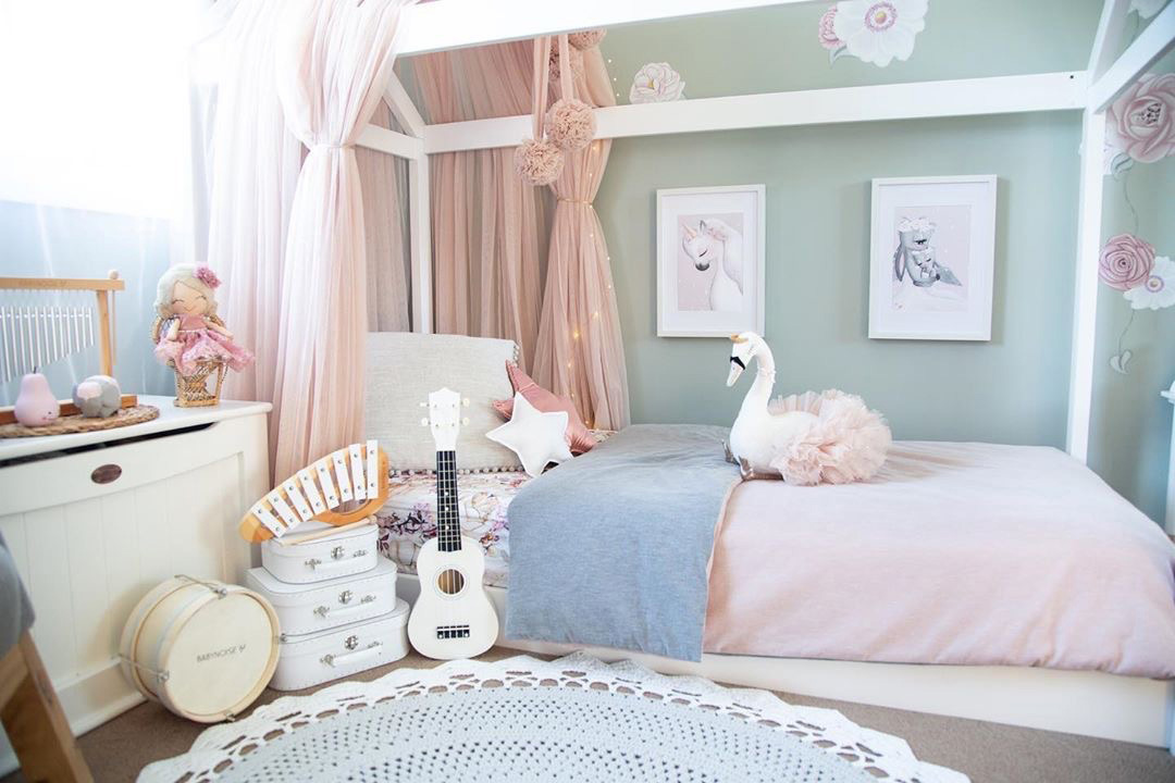 Pastel Colors and Accent Wall