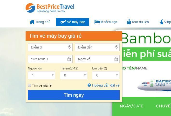 Săn vé máy bay giá tốt đơn giản từ BestPrice