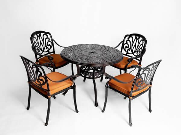 Bàn ghế nhôm đúc – Bộ bàn ghế sân vườn