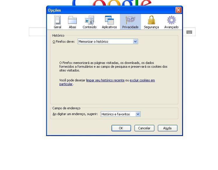 Opções - privacidade do Mozilla (Foto: Reprodução Verônica Vasque)