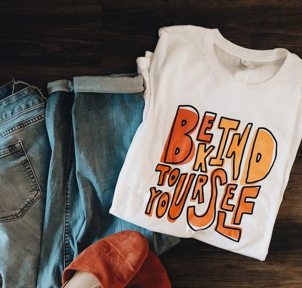 Off-register print t-shirt design