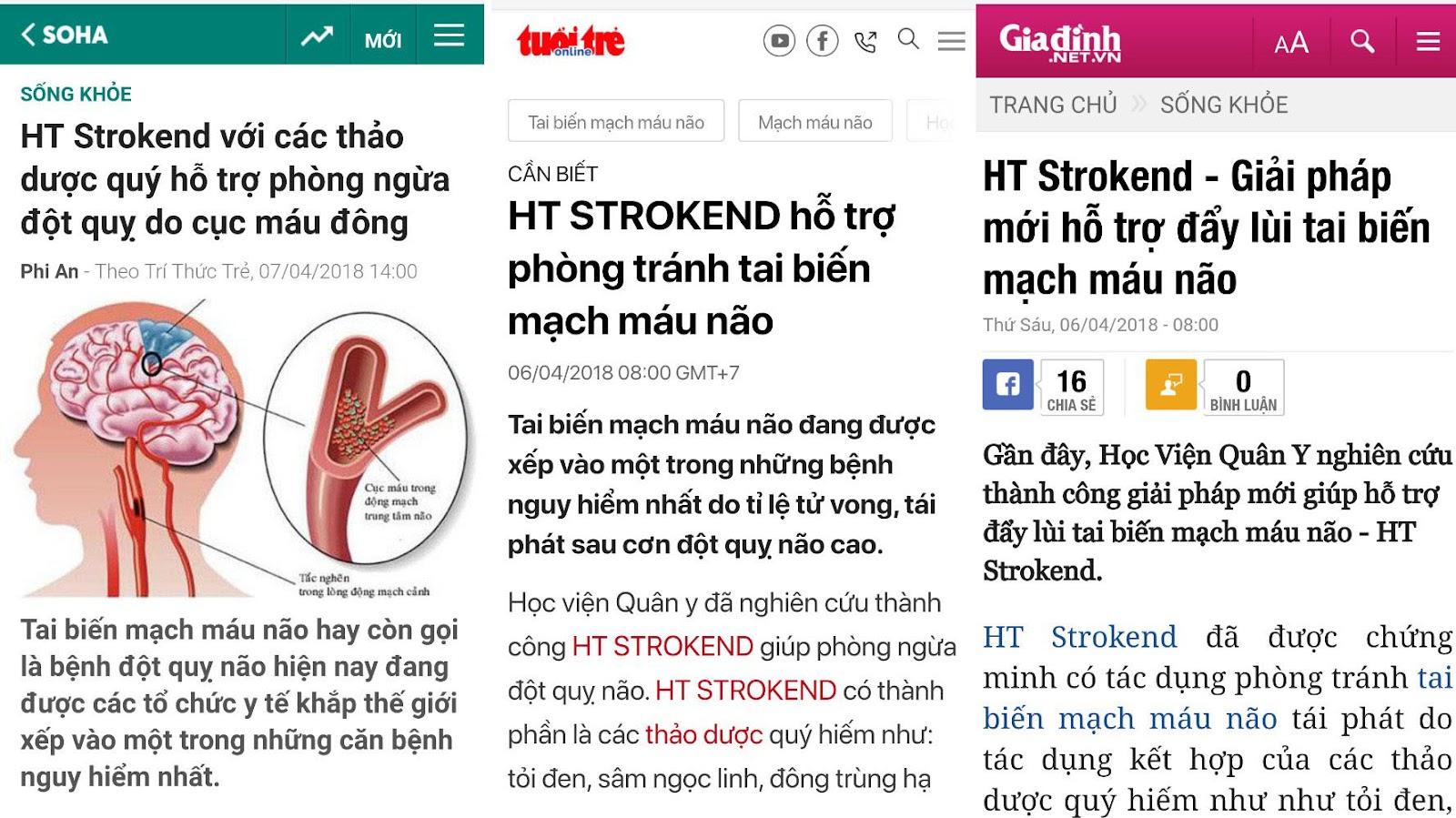 HT Strokend được các báo lớn đưa tin