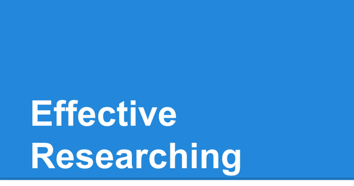 Effective (re)Search Strategies - cover
