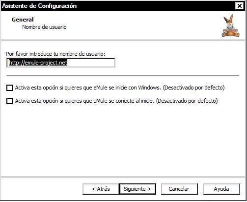 asistente de configuracion emule