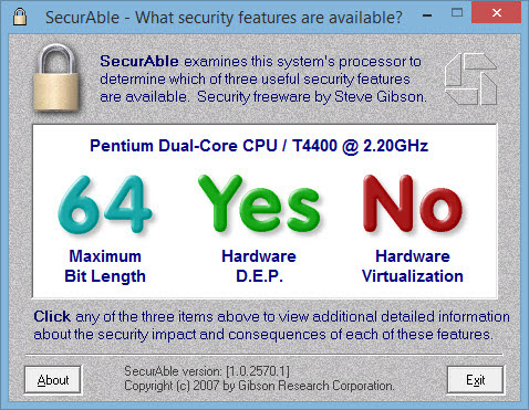 SecurAble checking x64 system