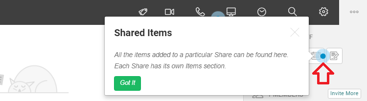 uShare - Shared items