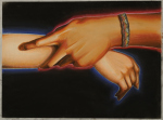 B-Jankleyhand holding wrist red blue