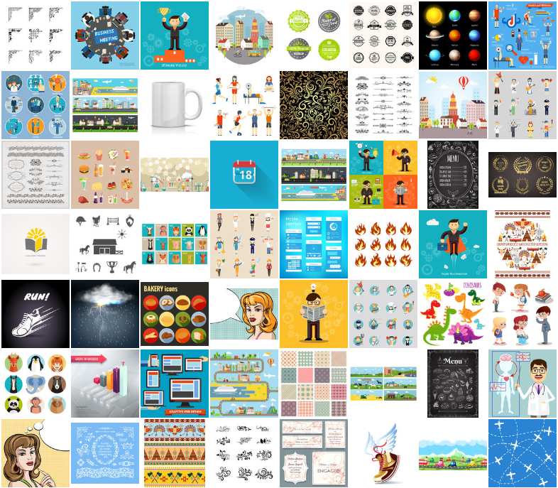 September Bestsellers Vector Illustrations