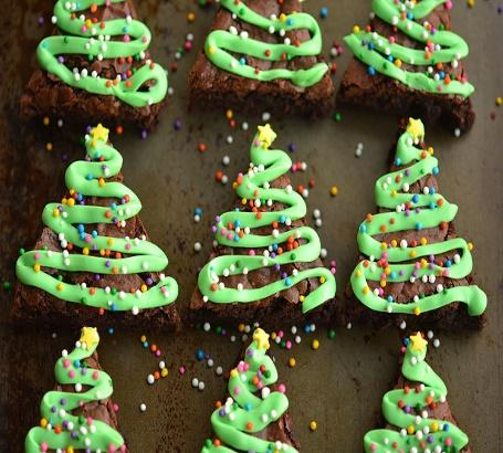 Image result for christmas cookie brownies
