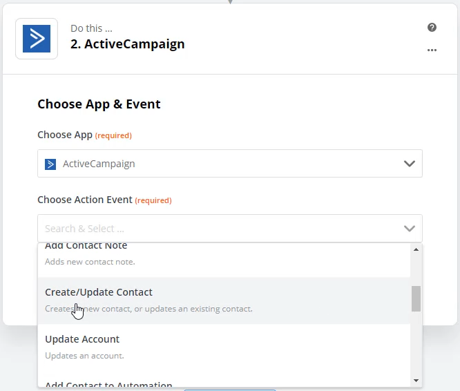 zapier action example