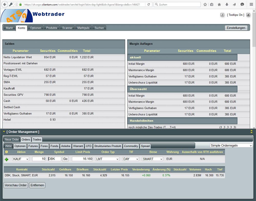 Webtrader von Agora Direct im Überblick