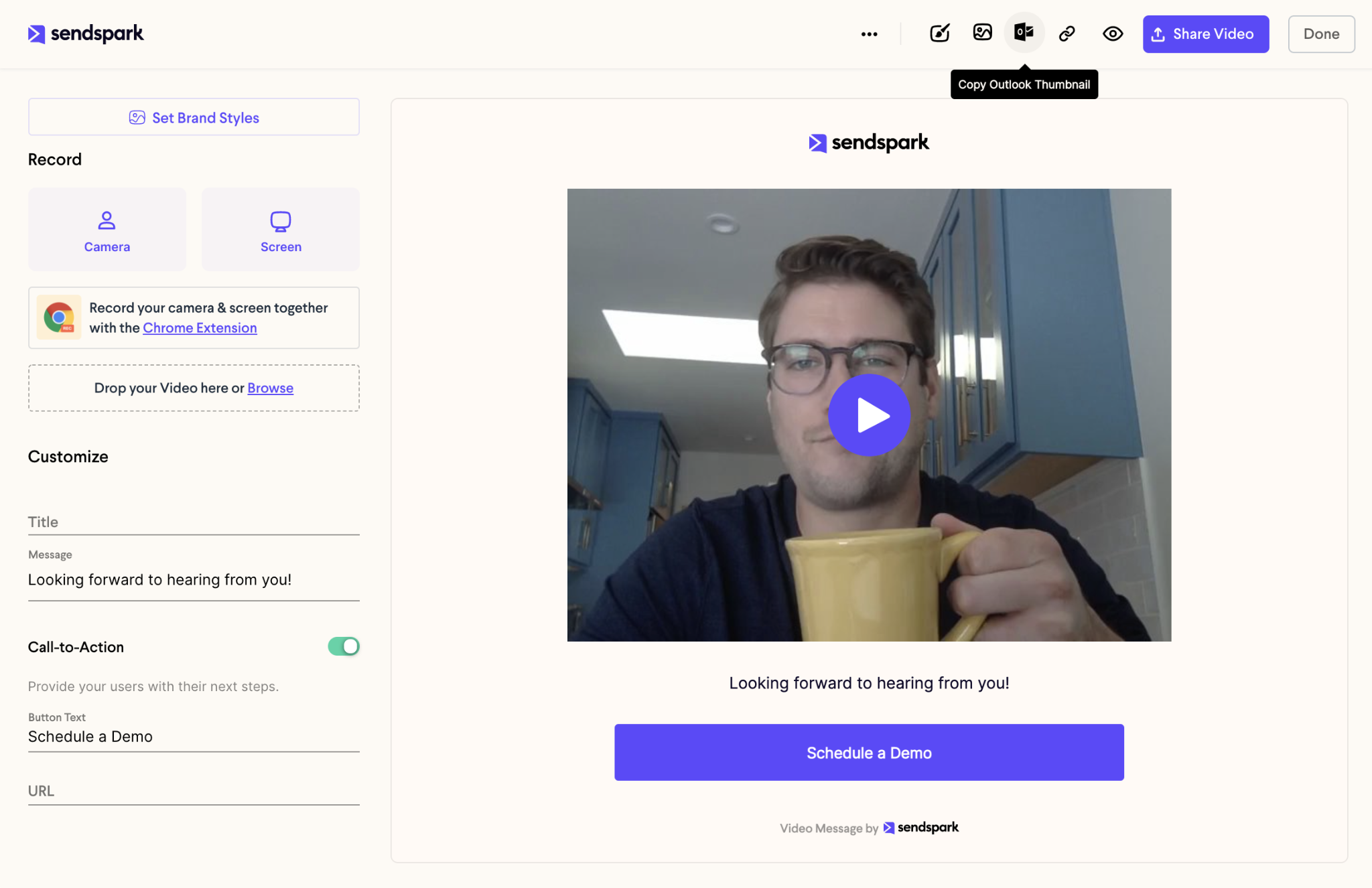Copy Video Email Preview for Outlook