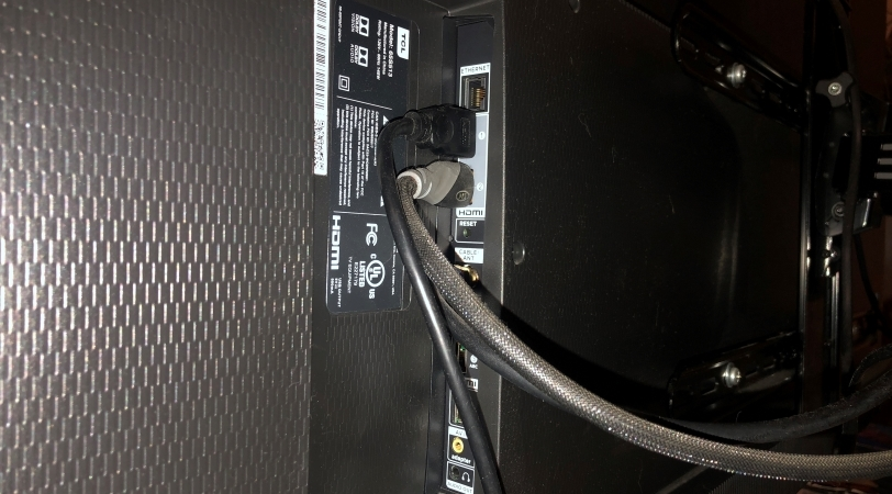 wires behind a TV