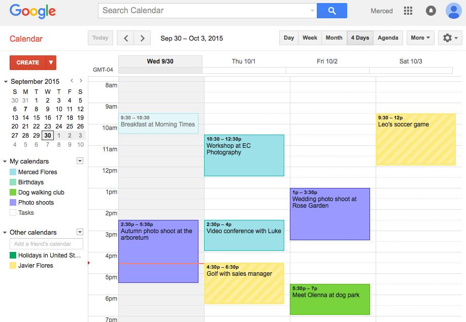 google calendar can improve your productivity