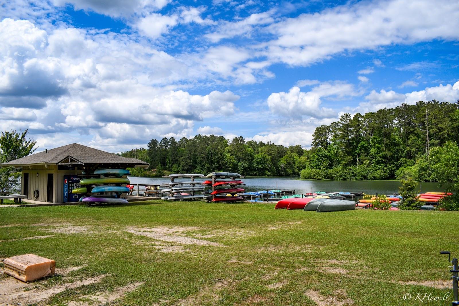 Canoe and kayak center at Oak Mountain State Park in Pelham, Alabama