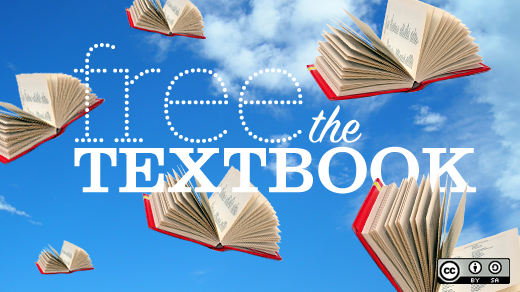 Free the textbook! flying books