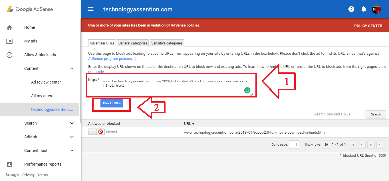 how to remove adsense ads