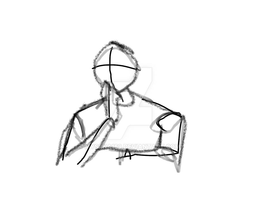 1: Draw a anime body by