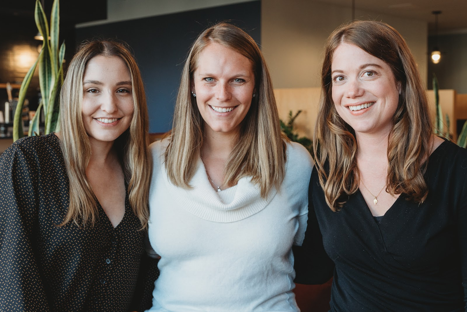From left: Head engineer Angela Murrell with founders Elle Hempen and Ellory Monks