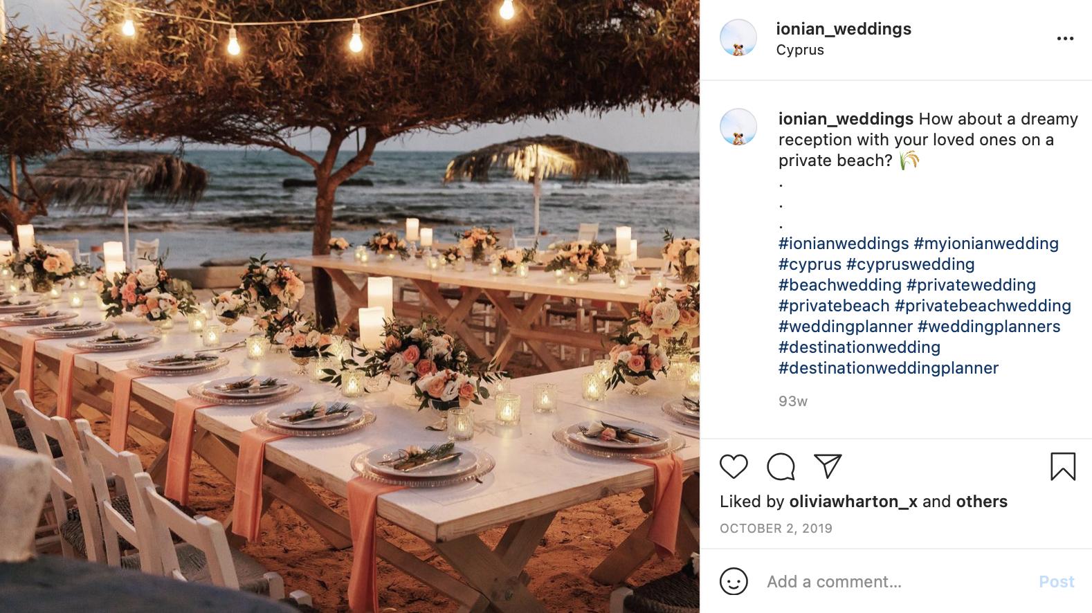 destination wedding on a private beach