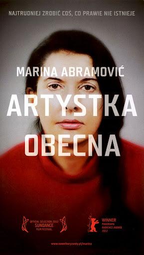 Przód ulotki filmu 'Marina Abramović: Artystka Obecna'