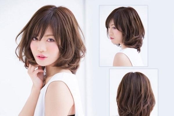 tóc ngắn uốn