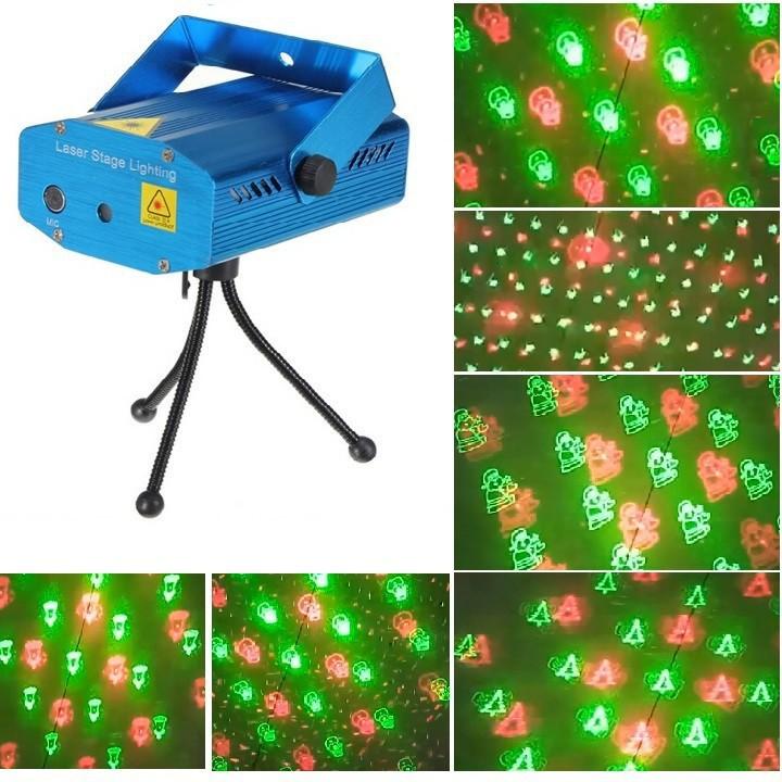 Đèn chiếu sao trang trí Mini Laser Stage Lighting