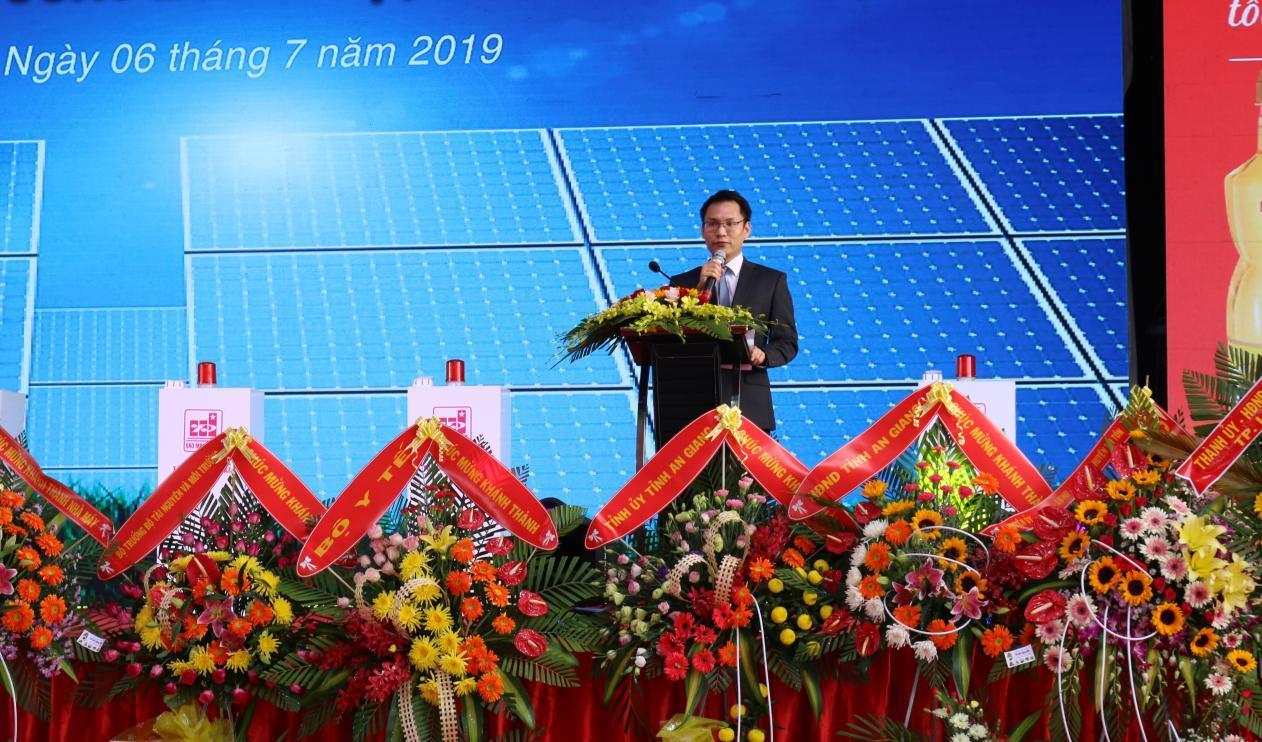 1. Ông Lê Tuấn Anh - Tổng Giám đốc Công ty Sao Mai Solar phát biểu khai mạc buổi lễ