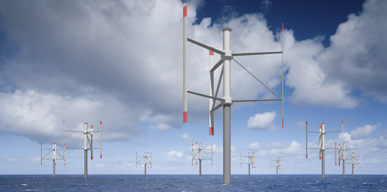 A row of wind turbines in a snowy field  Description automatically generated with low confidence
