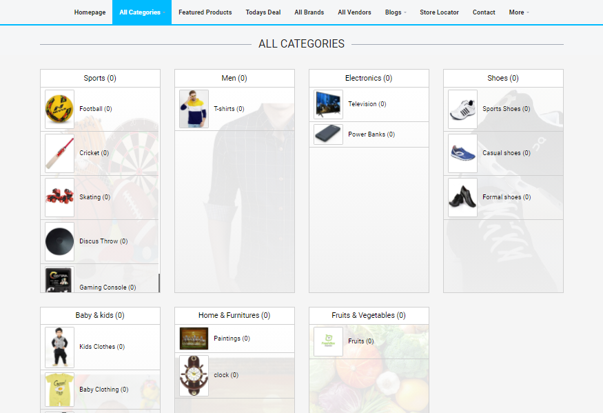 Readymade e-commerce website build-in 2 days - Category listing - Lia infraservices