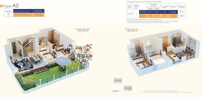 Thiết kế biệt thự duplex 2 tầng hiện đại, hòa nhập thiên nhiên