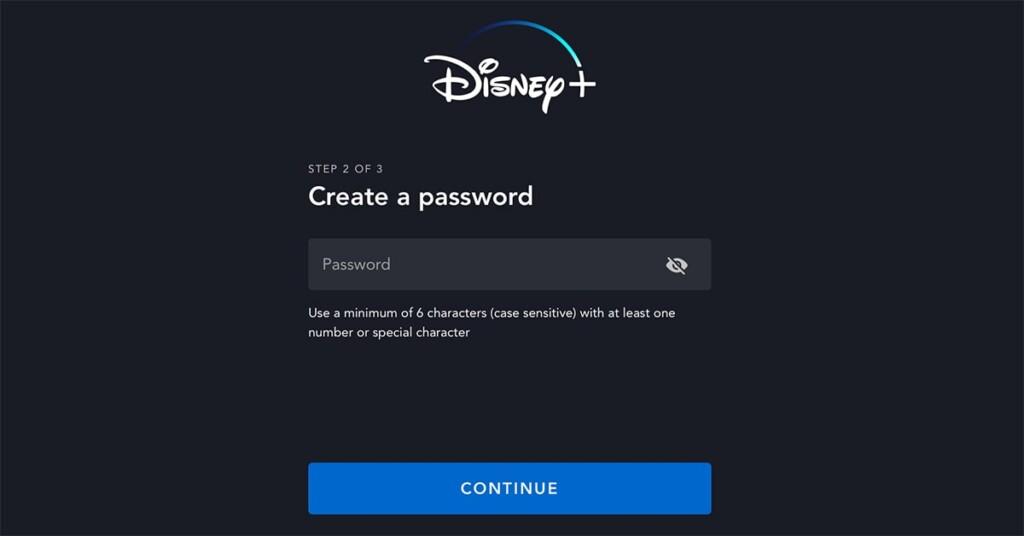 Creating a Password for Disney Plus