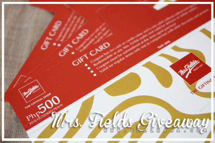 mrs fields cafe sm makati giveaway
