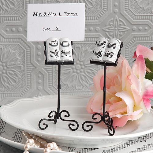 Music Stand Place Card Holders from Hotref.com